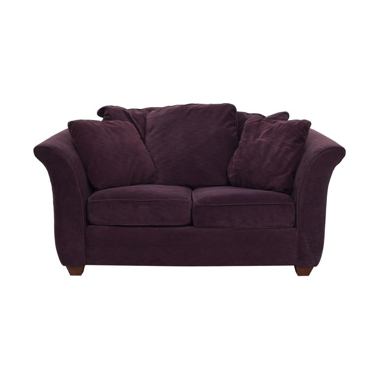 Bauhaus Furniture Bauhaus Furniture Plum Two-Cushion Loveseat for sale