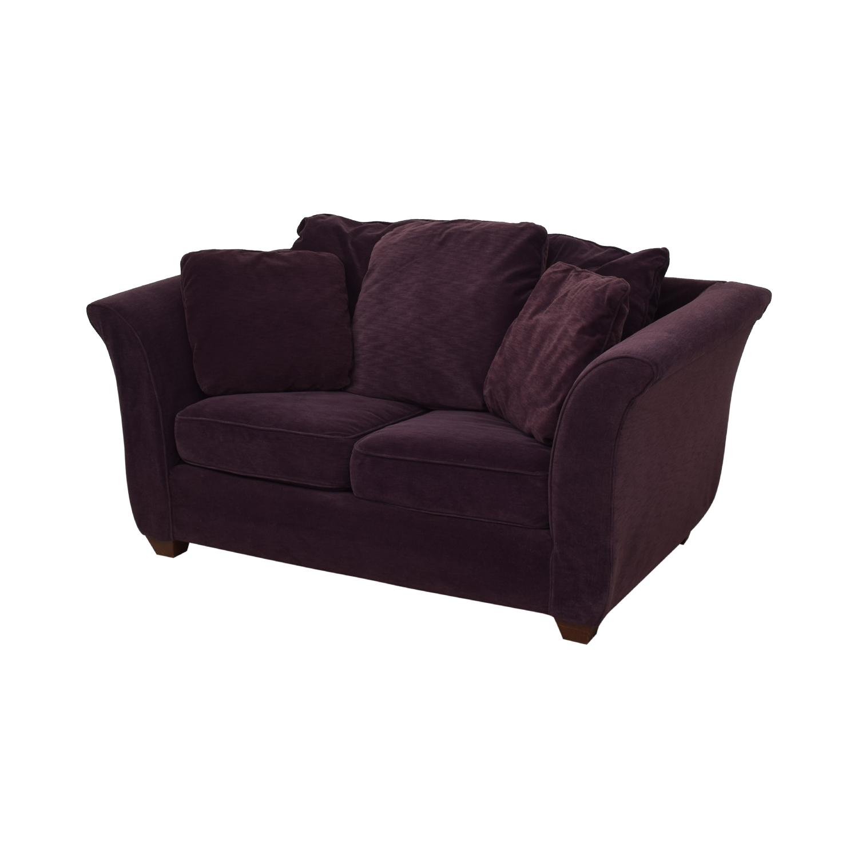 Bauhaus Furniture Bauhaus Furniture Plum Two-Cushion Loveseat