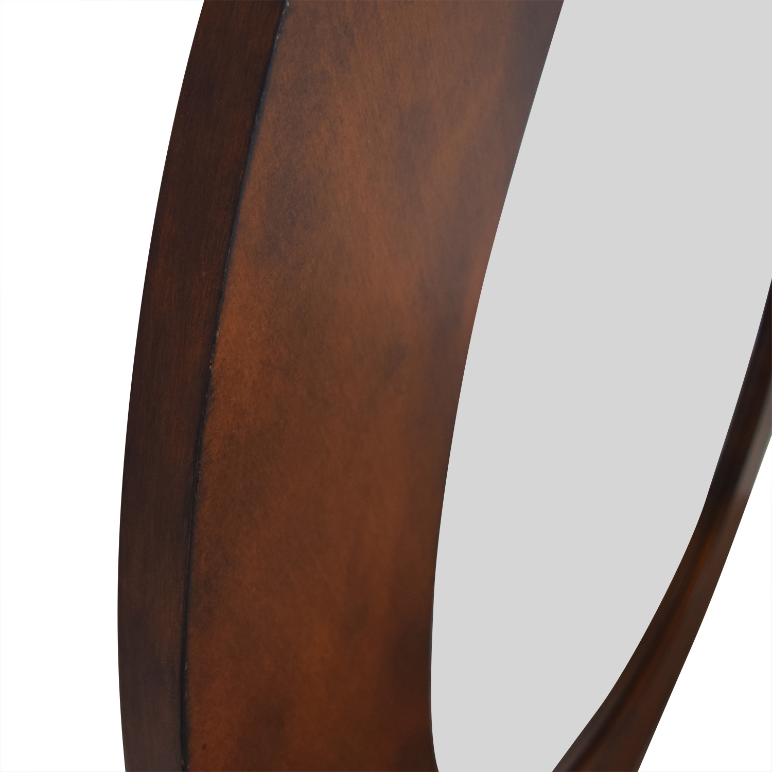 Wall Mirror With Brown Frame brown