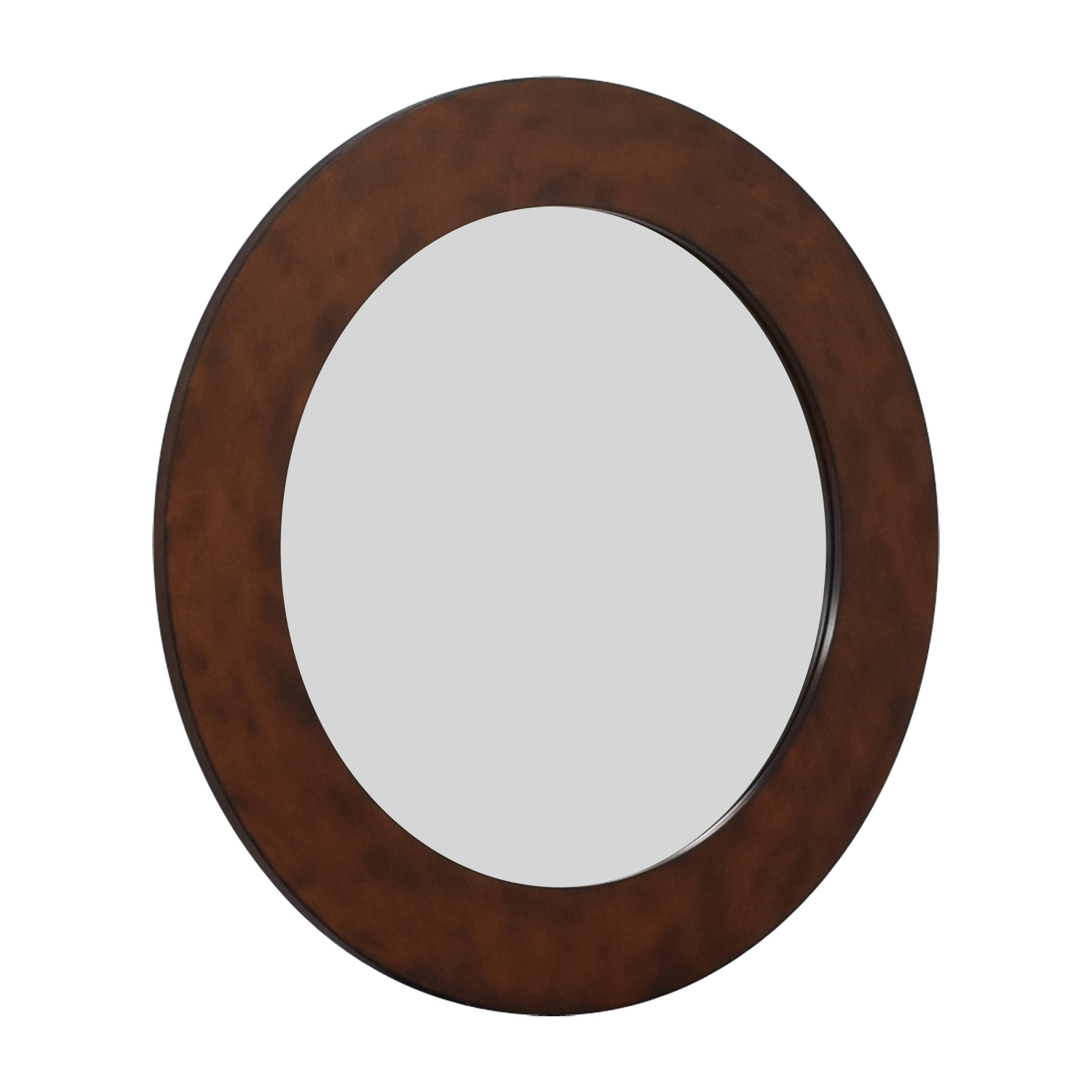 shop Wall Mirror With Brown Frame  Decor