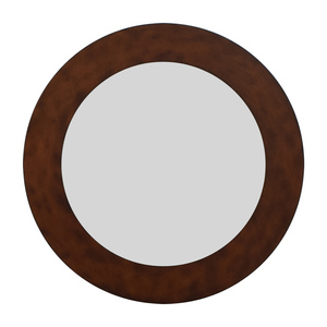 Wall Mirror With Brown Frame used