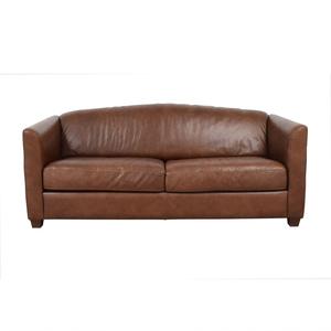 Brown Two-Cushion Convertible Sleeper Sofa Sofas