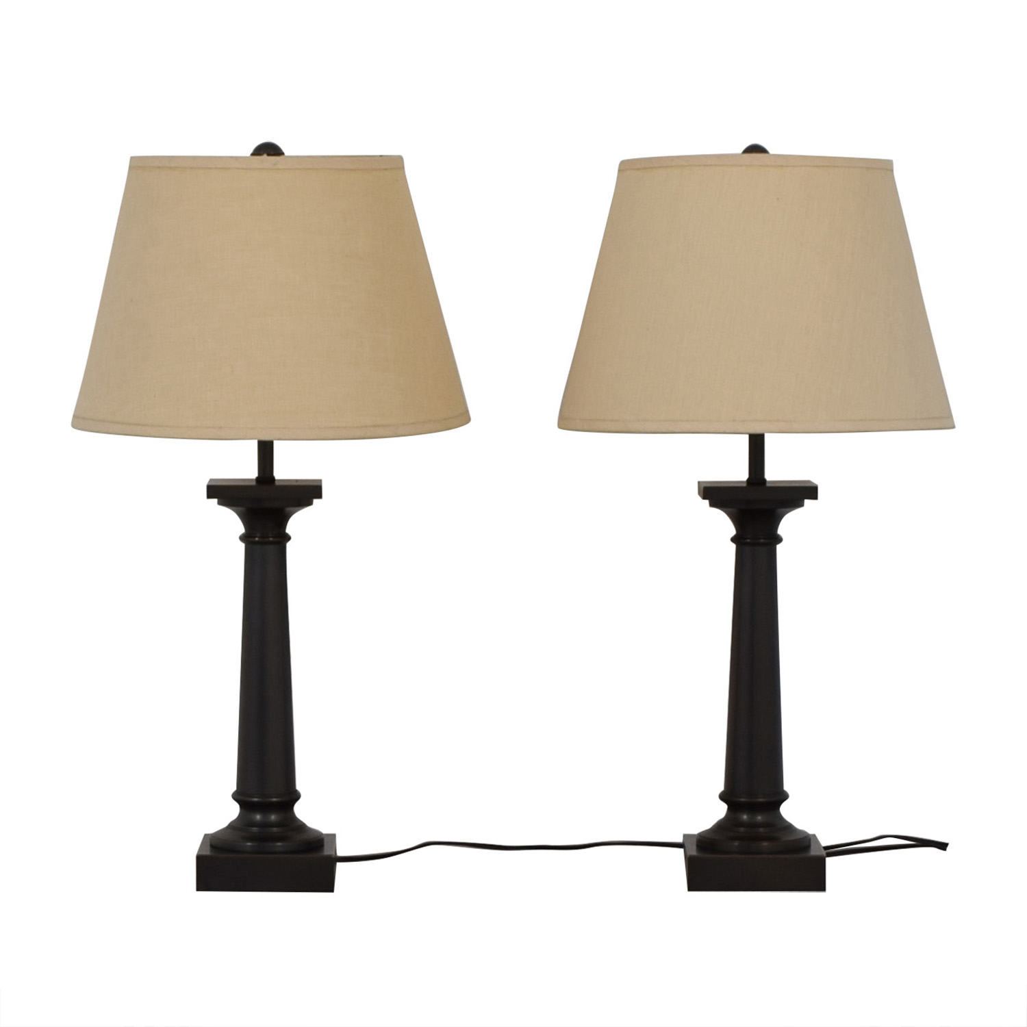 Restoration Hardware Restoration Hardware Table Lamps Set Lamps