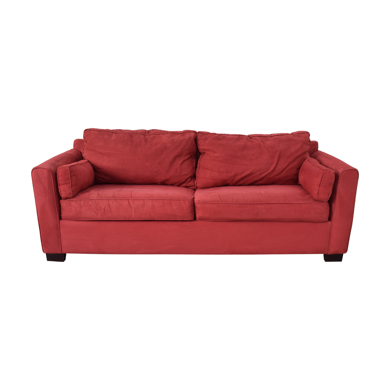 buy Bloomingdale's Red Two-Cushion Convertible Sofa Bloomingdale's Classic Sofas