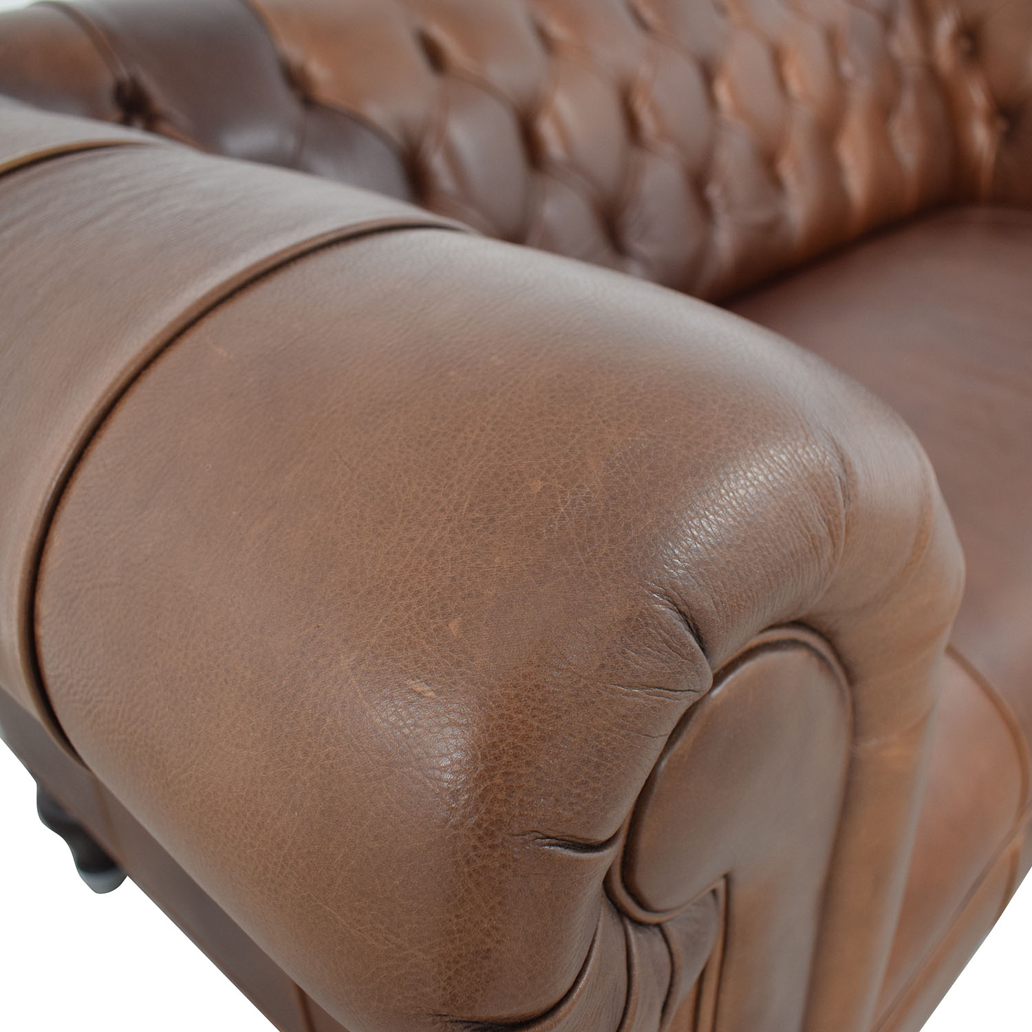 buy Mitchell Gold + Bob Williams Chesterfield Cognac Tufted Sofa Mitchell Gold + Bob Williams Classic Sofas