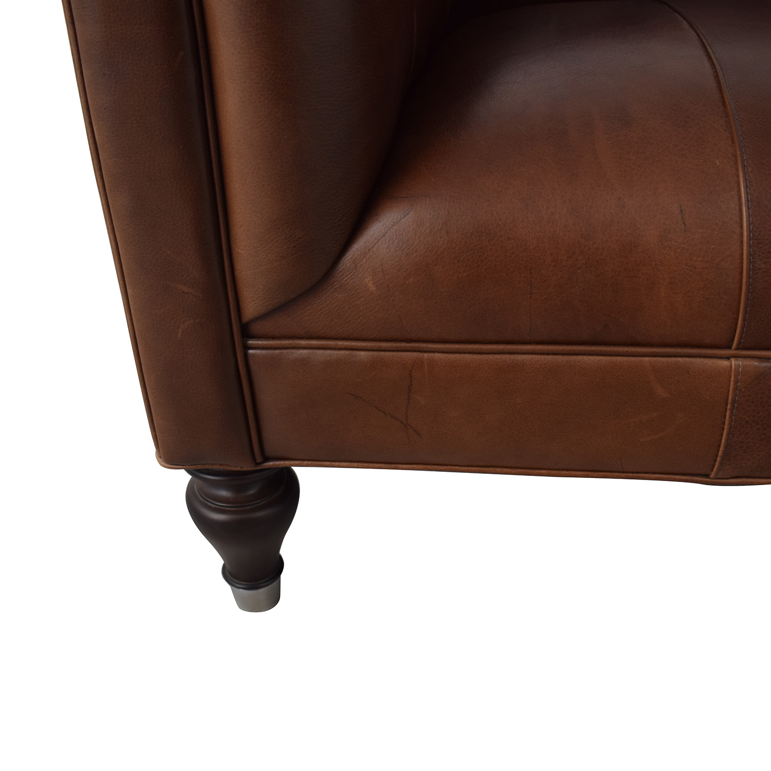buy Mitchell Gold + Bob Williams Mitchell Gold + Bob Williams Chesterfield Cognac Tufted Sofa online