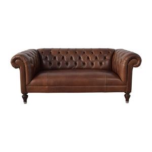 Mitchell Gold + Bob Williams Mitchell Gold + Bob Williams Chesterfield Cognac Tufted Sofa
