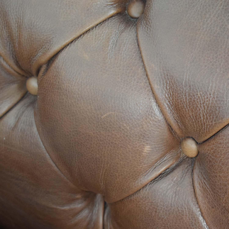 Mitchell Gold + Bob Williams Mitchell Gold + Bob Williams Chesterfield Cognac Tufted Sofa Classic Sofas
