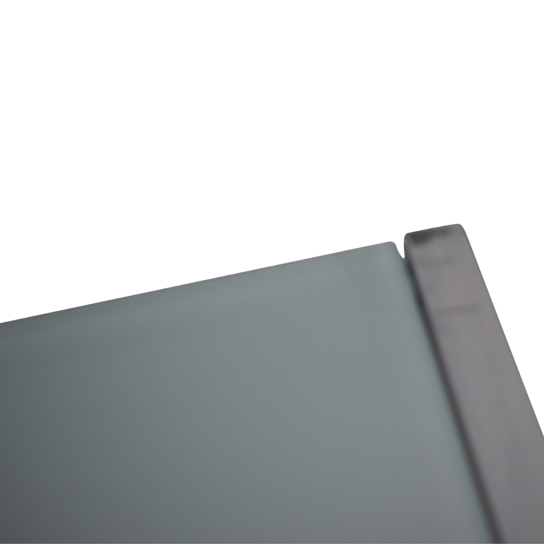 buy CB2 Glass and Chrome Trig Desk CB2 Home Office Desks