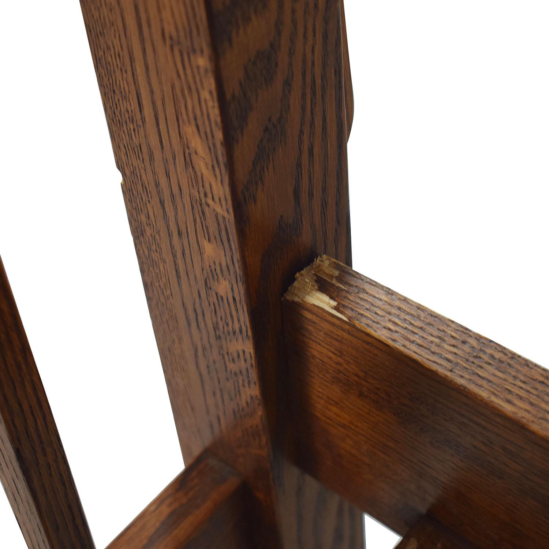 shop Spindle Mission Style Oak Queen Bed Frame  Bed Frames