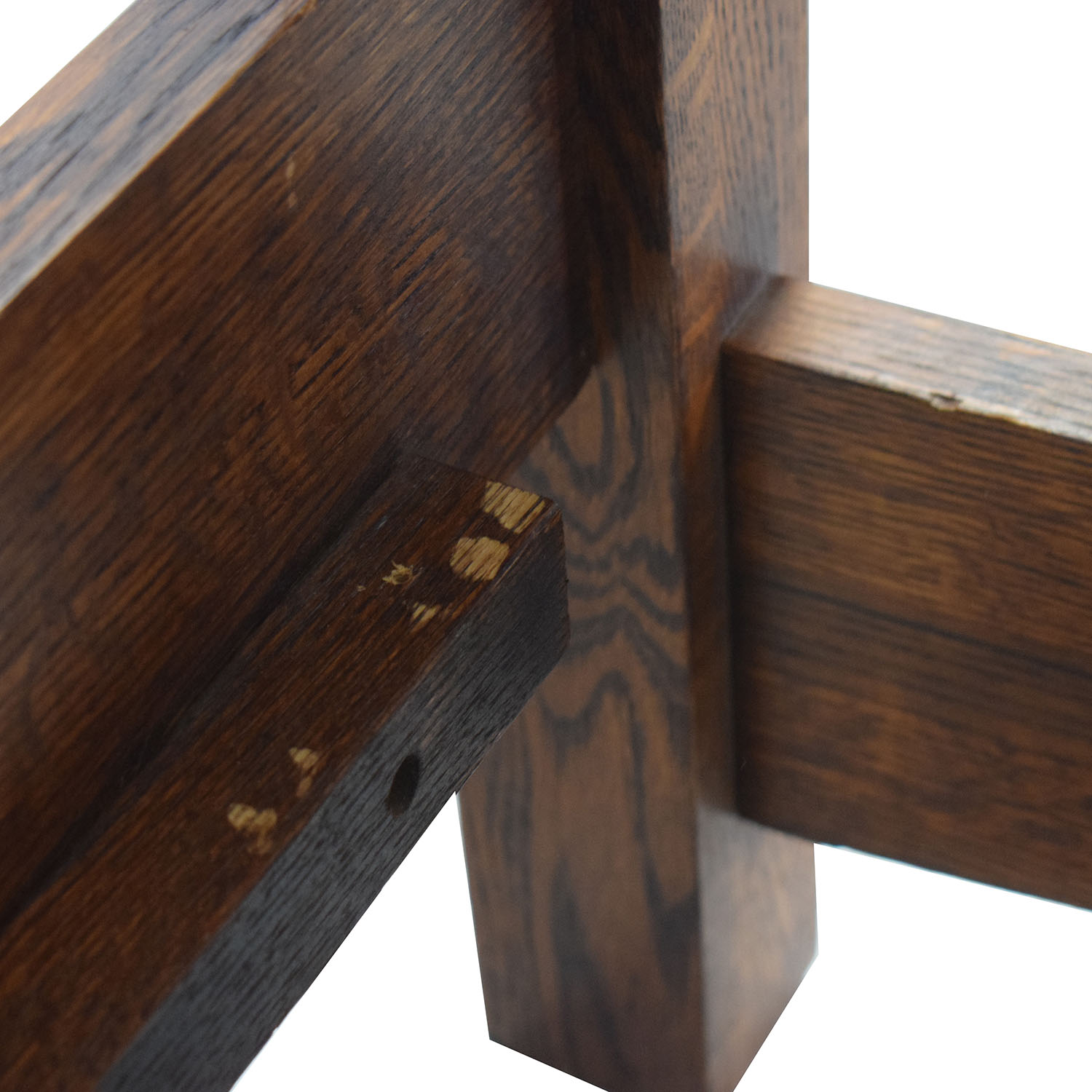 Spindle Mission Style Oak Queen Bed Frame