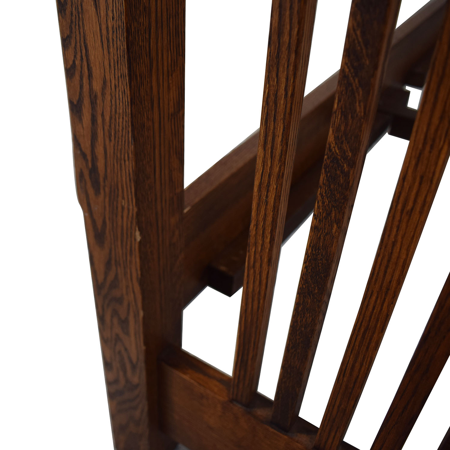 Spindle Mission Style Oak Queen Bed Frame on sale