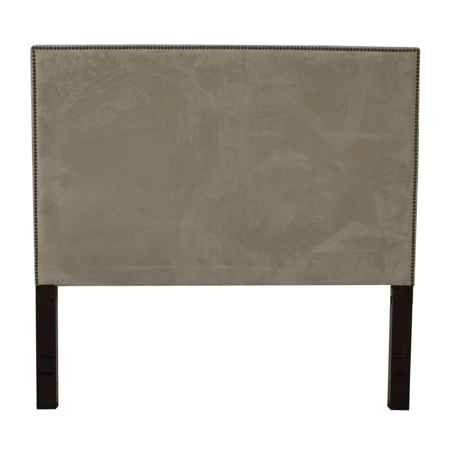 67% OFF - West Elm West Elm Tall Nailhead Upholstered Headboard / Beds
