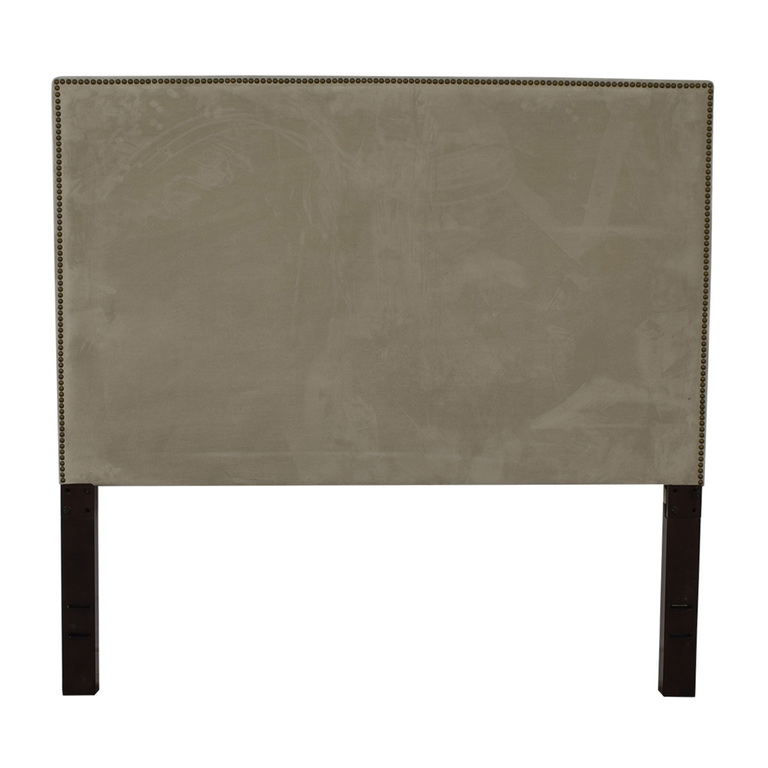 West Elm West Elm Tall Nailhead Upholstered Headboard second hand