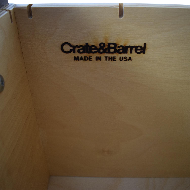 shop Crate & Barrel Three-Drawer Tall Dresser Crate & Barrel Dressers