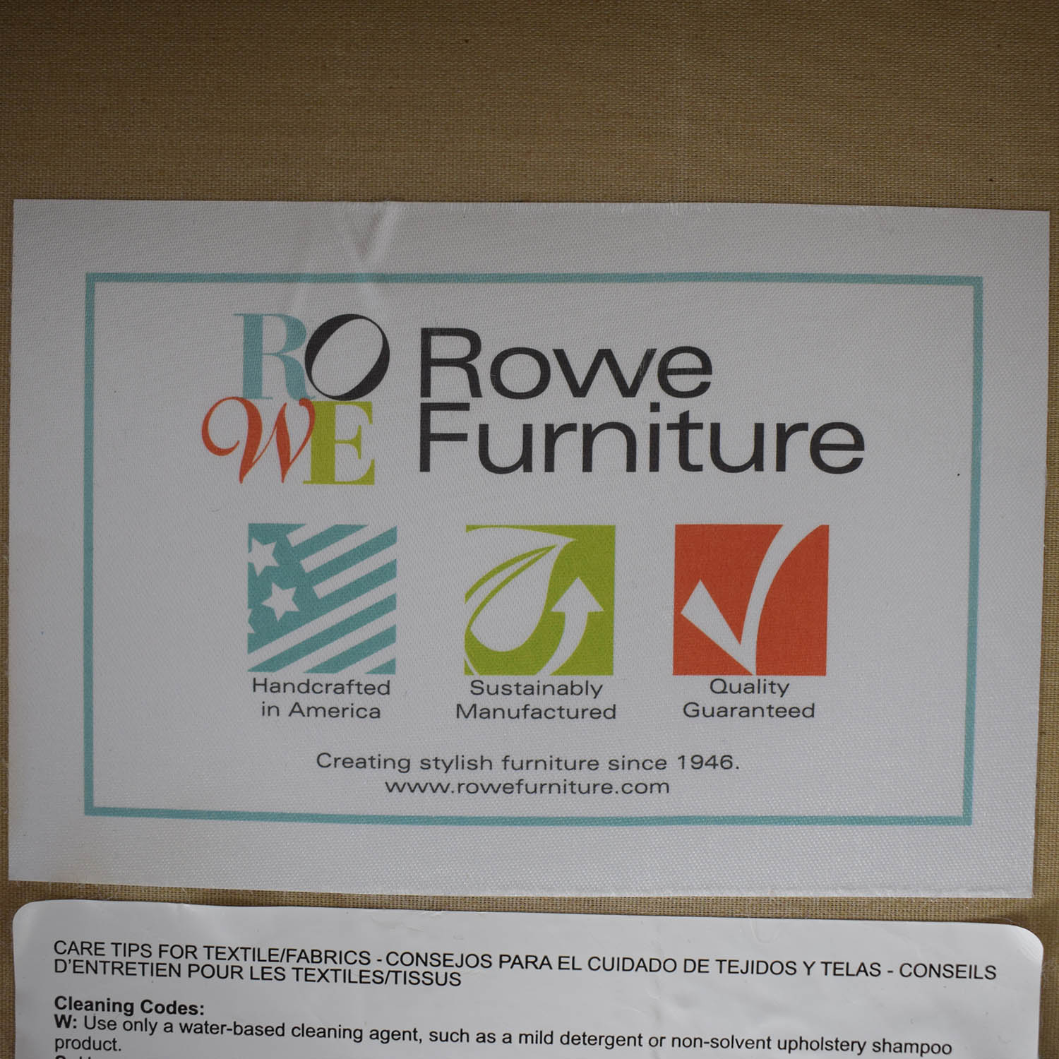Rowe Furniture Rowe Furniture Ethan Beige Tufted Accent Armchair Chairs