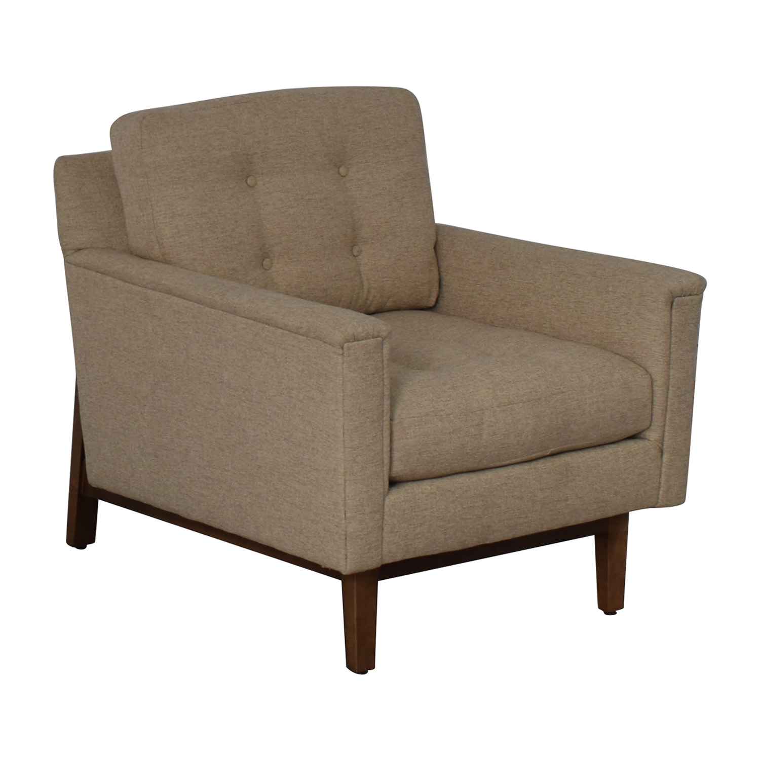 Rowe Furniture Rowe Furniture Ethan Beige Tufted Accent Armchair discount