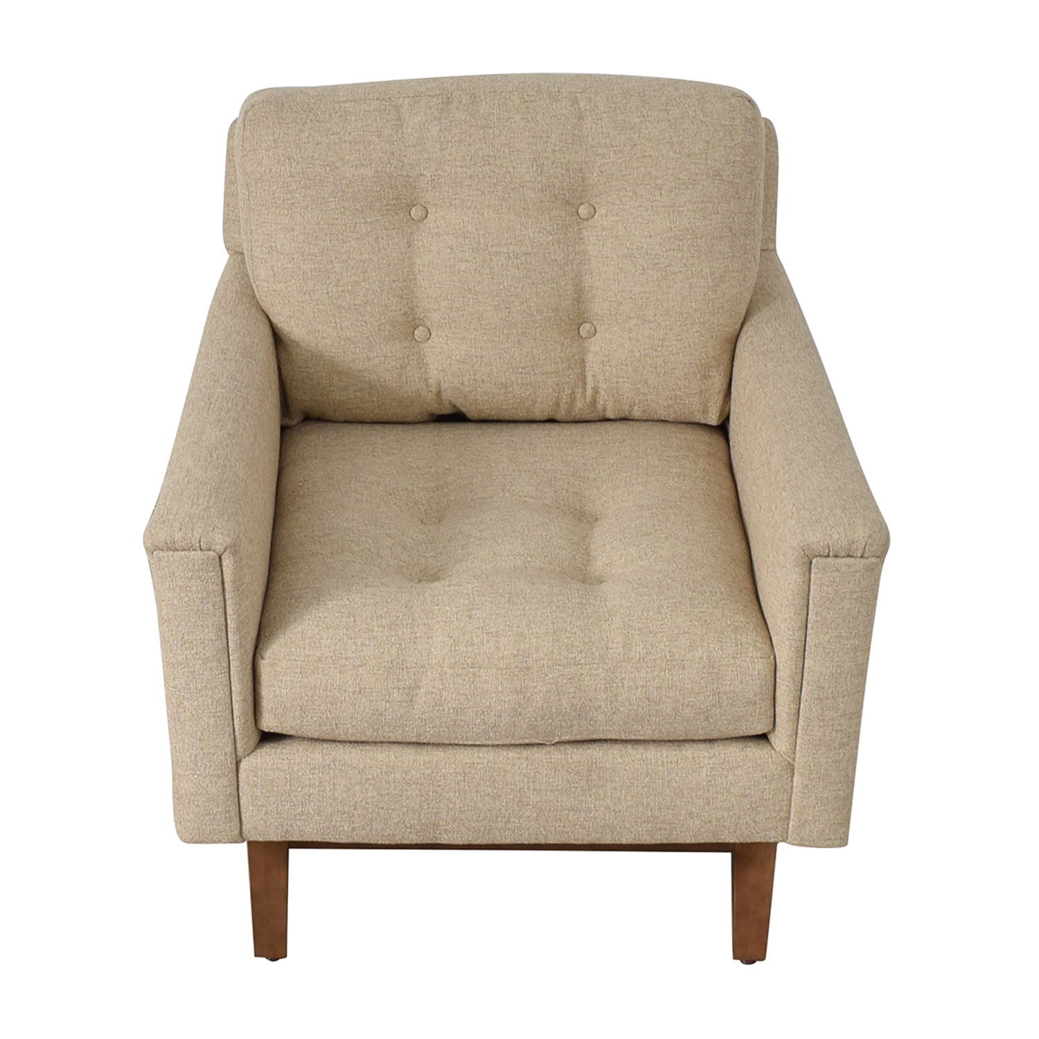 shop Rowe Furniture Rowe Furniture Ethan Beige Tufted Accent Armchair online