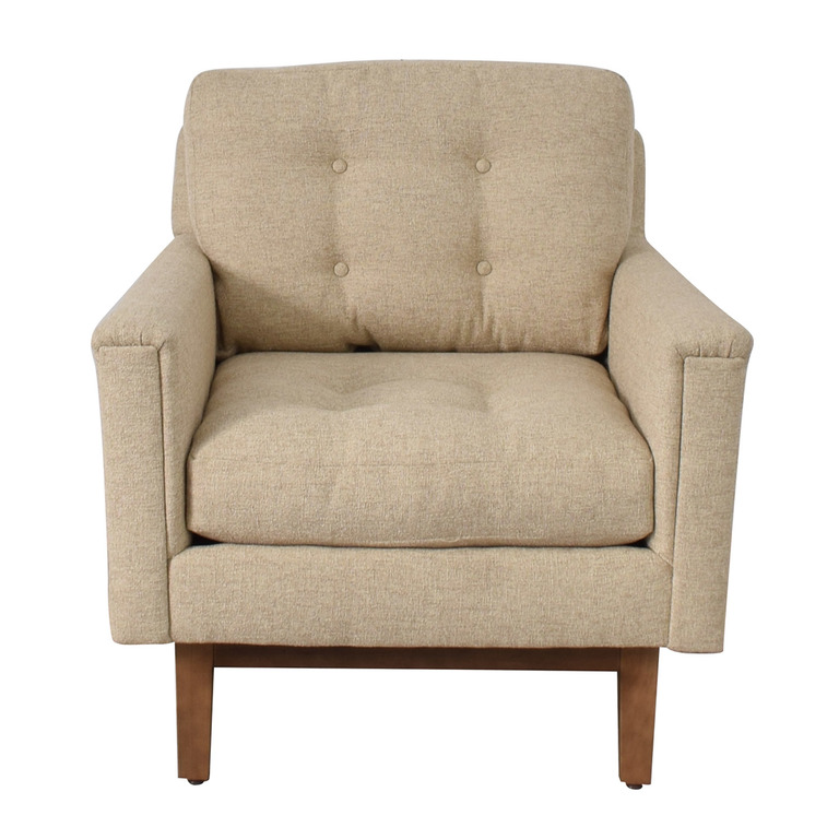 Rowe Furniture Rowe Furniture Ethan Beige Tufted Accent Armchair used