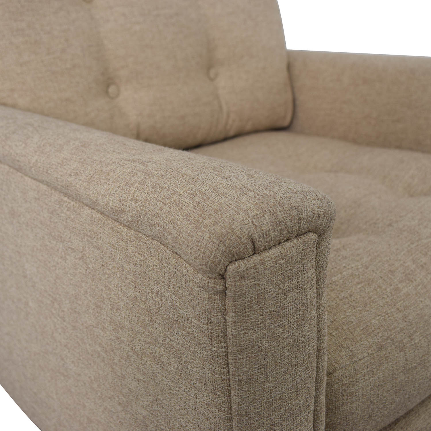 Rowe Furniture Ethan Beige Tufted Accent Armchair / Accent Chairs