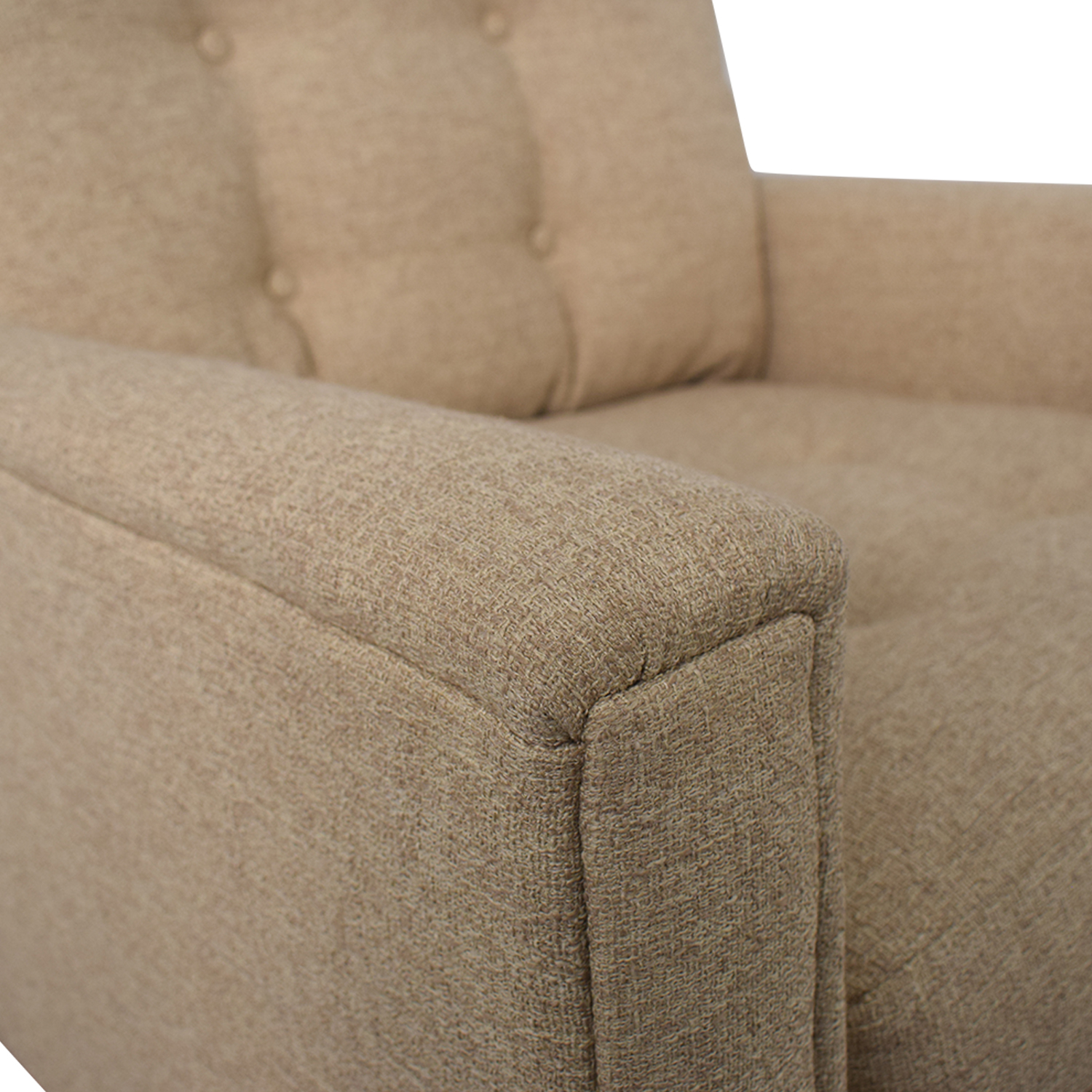 Rowe Furniture Ethan Beige Tufted Accent Armchair / Chairs