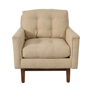 Rowe Furniture Rowe Furniture Ethan Beige Tufted Accent Armchair second hand