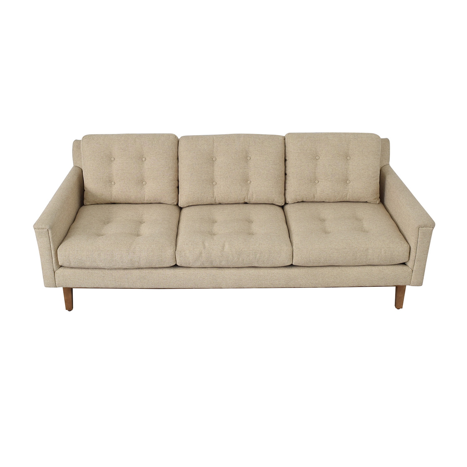 Rowe Furniture Rowe Furniture Beige Three Cushion Sofa second hand