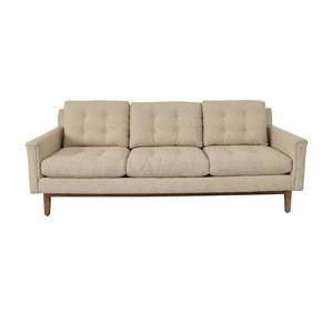 Rowe Furniture Rowe Furniture Beige Three Cushion Sofa nyc