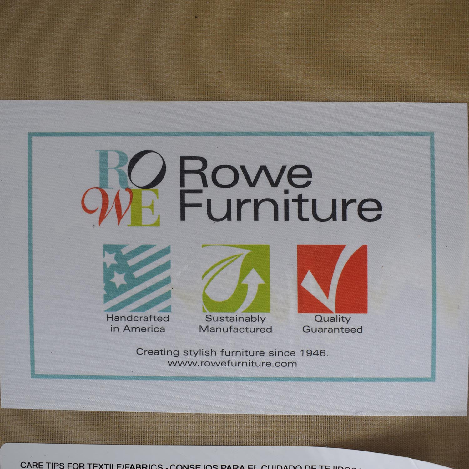 Rowe Furniture Rowe Furniture Beige Three Cushion Sofa used