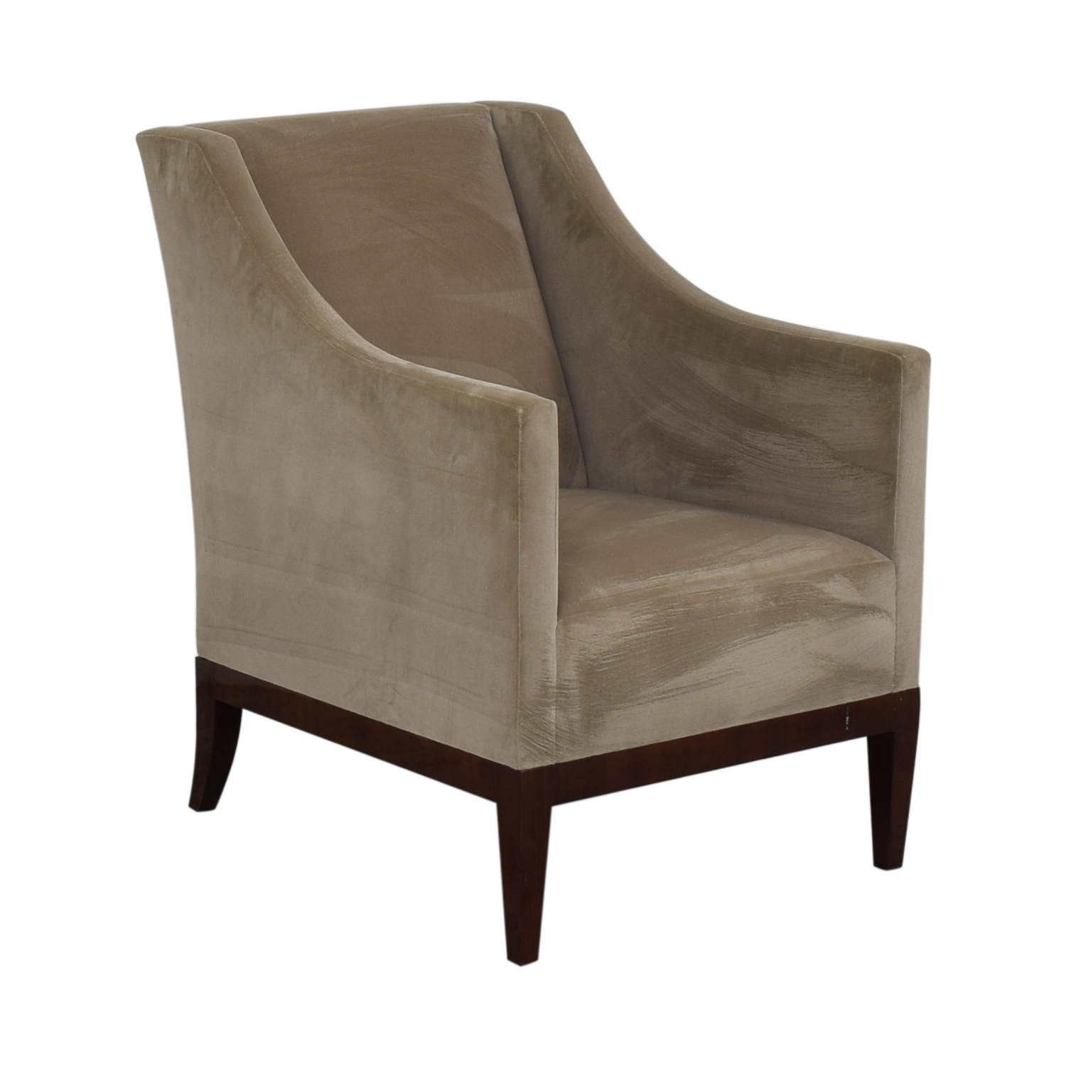 Gray Velvet Arm Accent Chair for sale