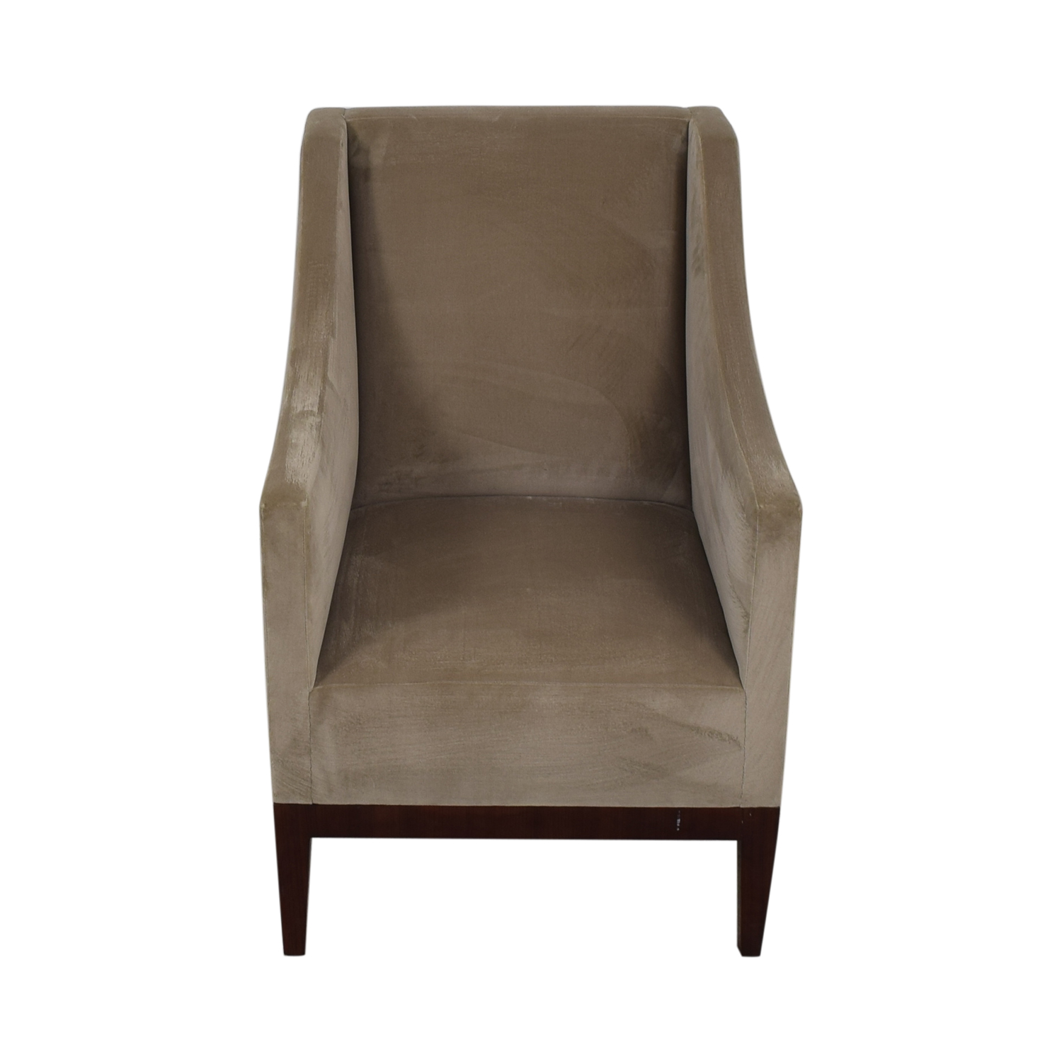 Gray Velvet Arm Accent Chair on sale