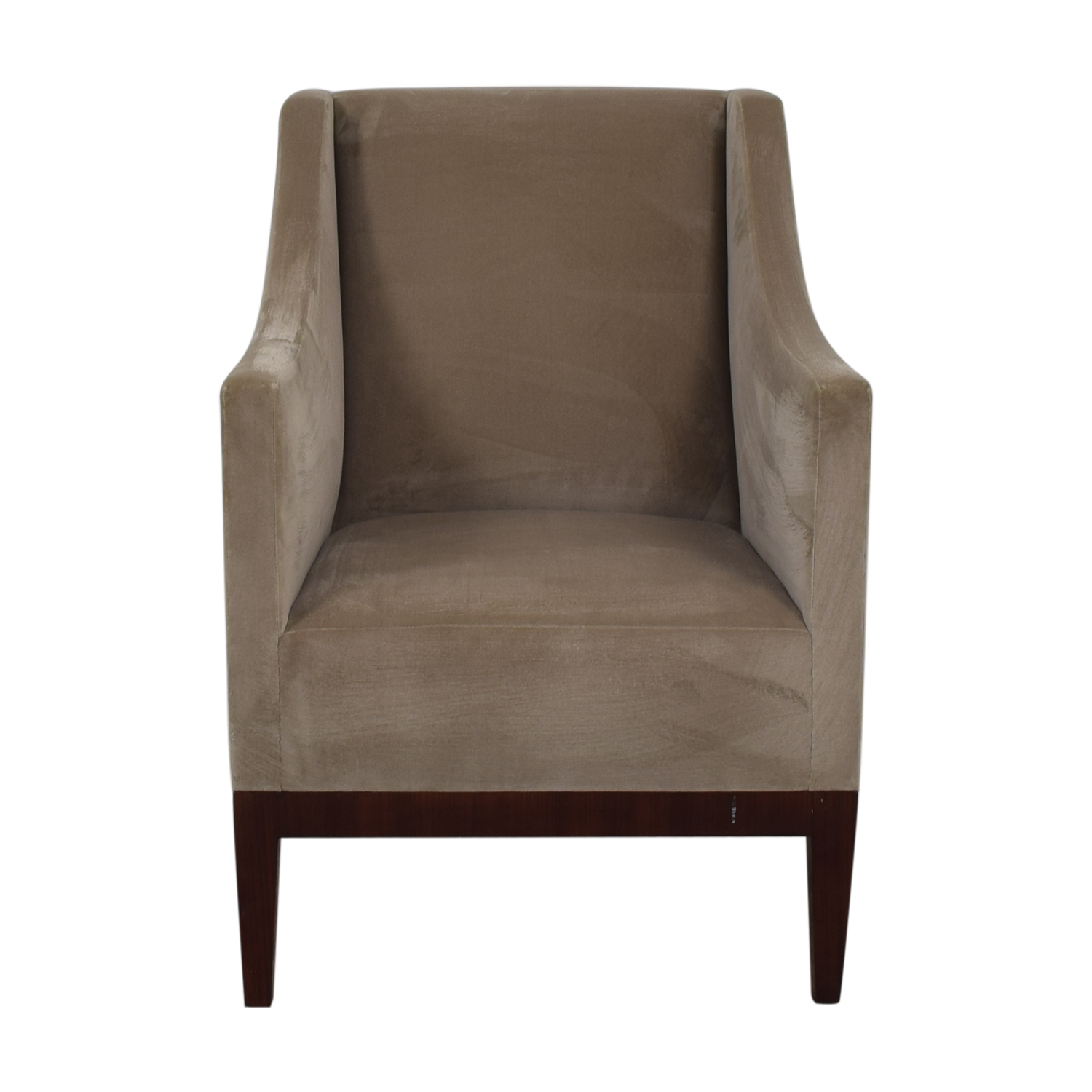 Gray Velvet Arm Accent Chair used