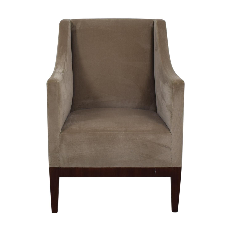 Gray Velvet Arm Accent Chair price
