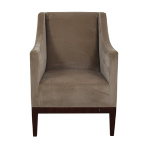 Gray Velvet Arm Accent Chair nj