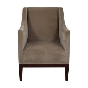 Gray Velvet Arm Accent Chair