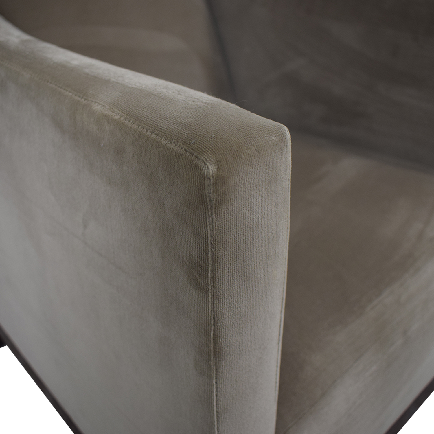 Gray Velvet Arm Accent Chair sale