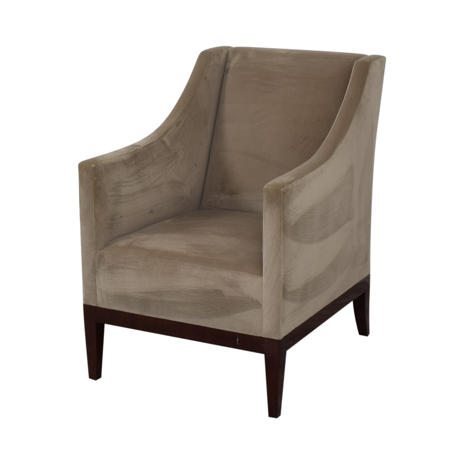 buy Gray Velvet Arm Accent Chair