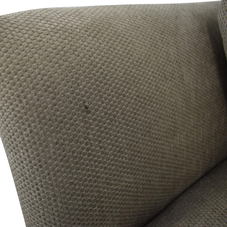 Grey Single Cushion Sofa Sofas