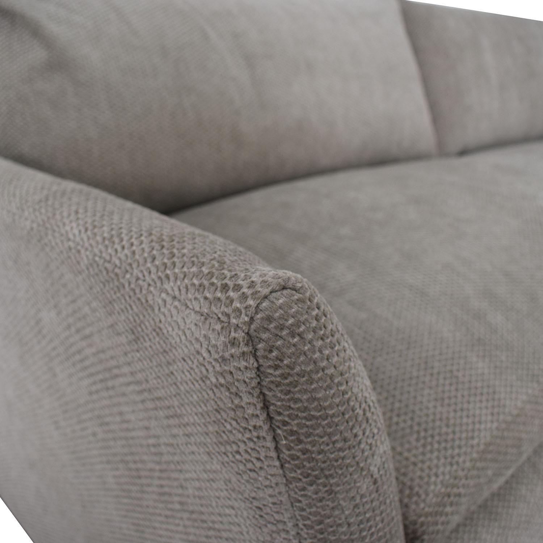 Grey Single Cushion Sofa for sale