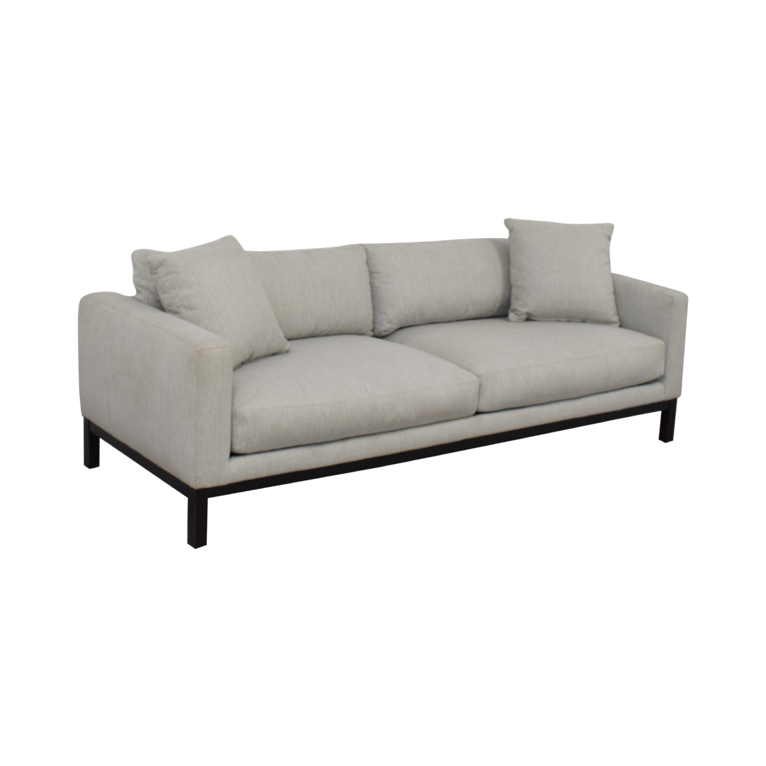 Rowe Furniture Rowe Furniture Contemporary Light Gray Upholstered Sofa GRAY