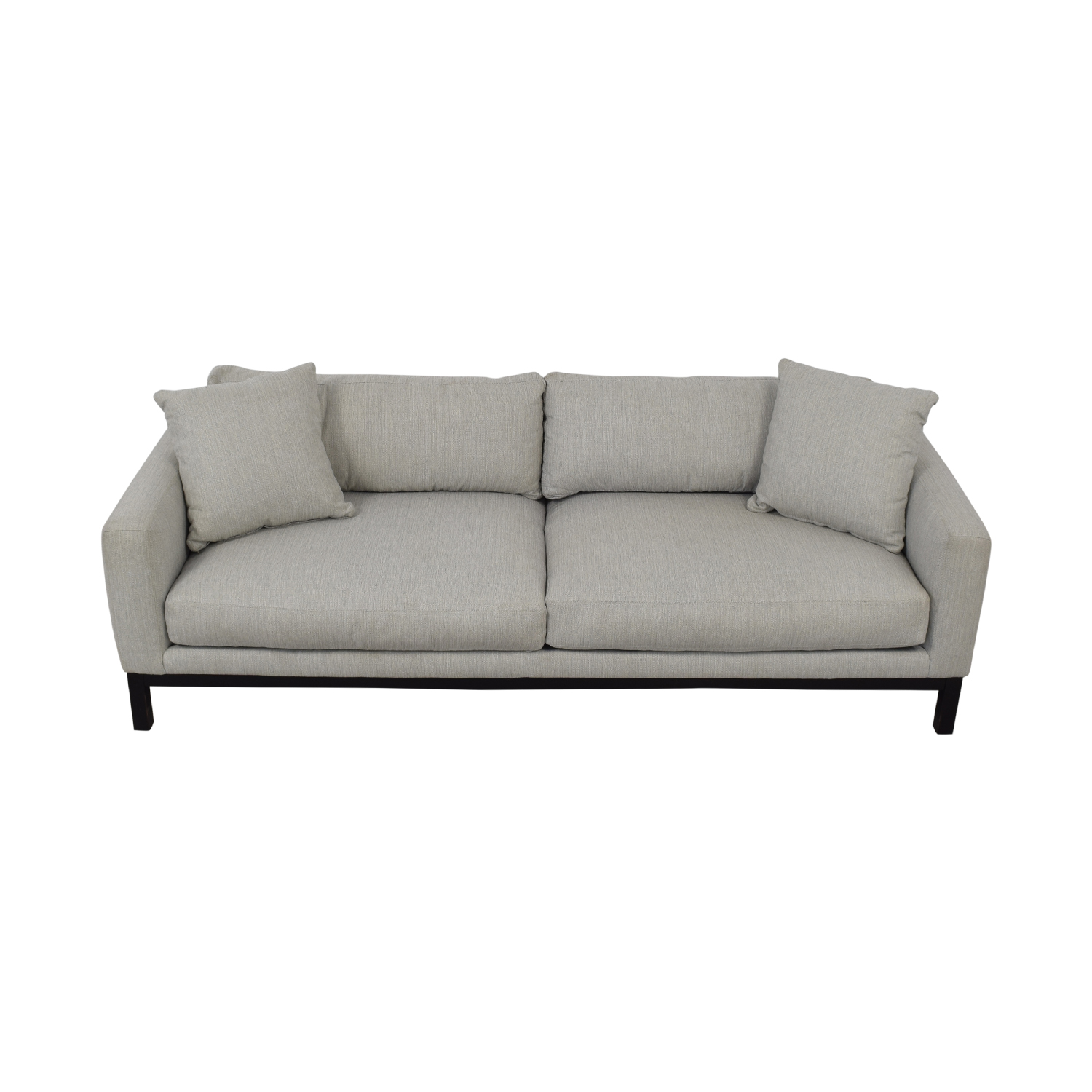 buy Rowe Furniture Contemporary Light Gray Upholstered Sofa Rowe Furniture Classic Sofas