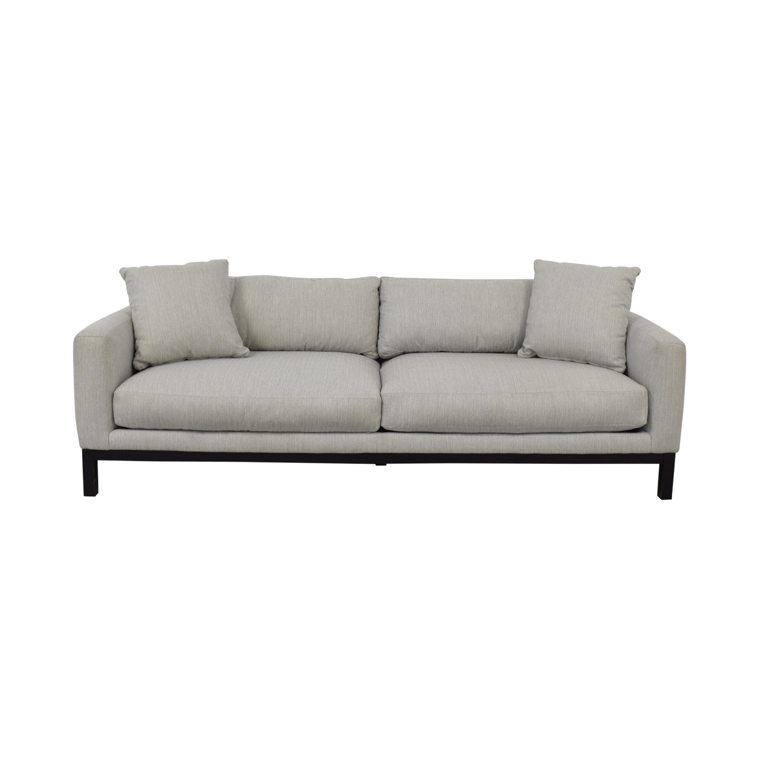 Rowe Furniture Rowe Furniture Contemporary Light Gray Upholstered Sofa Classic Sofas