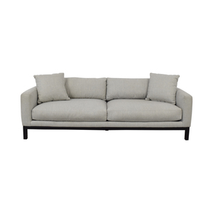 Rowe Furniture Rowe Furniture Contemporary Light Gray Upholstered Sofa