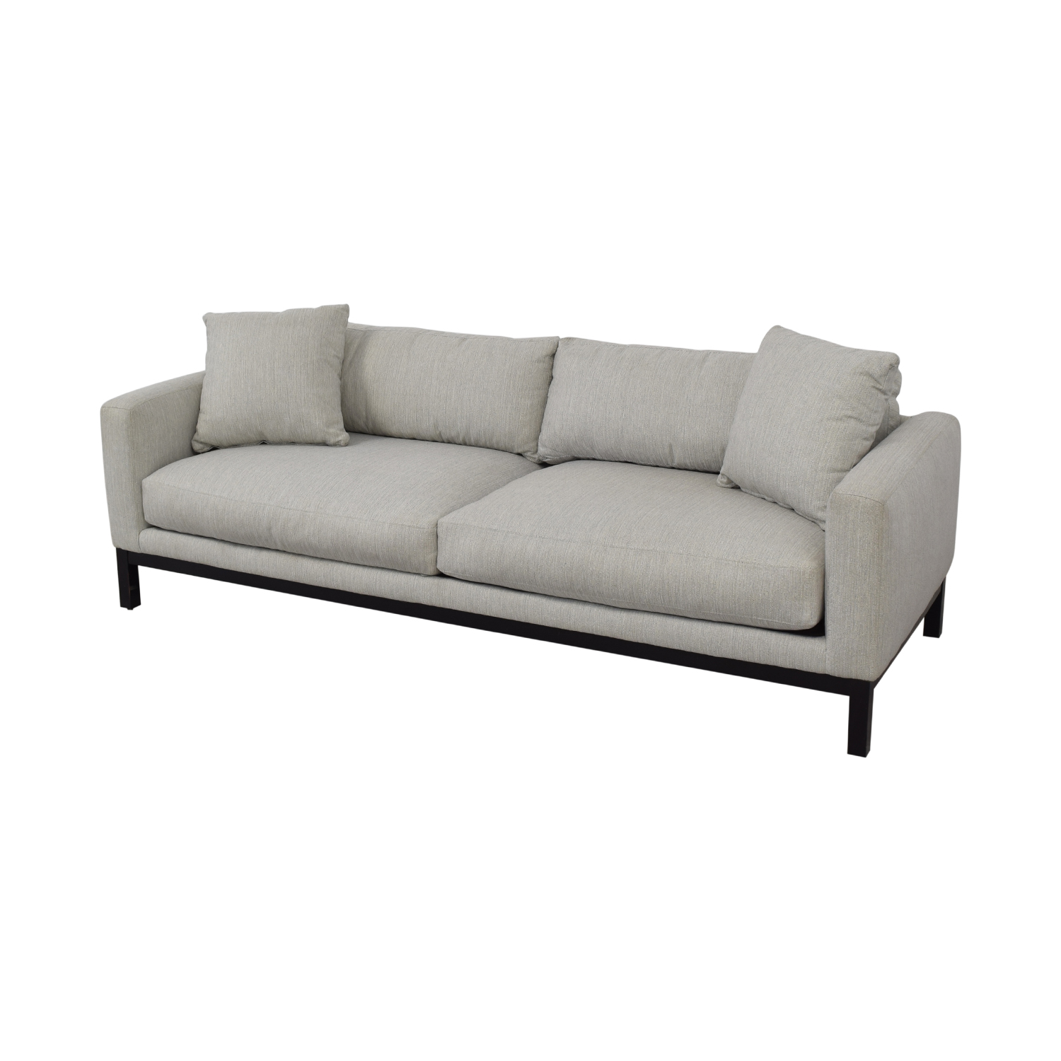 Rowe Furniture Rowe Furniture Contemporary Light Gray Upholstered Sofa coupon