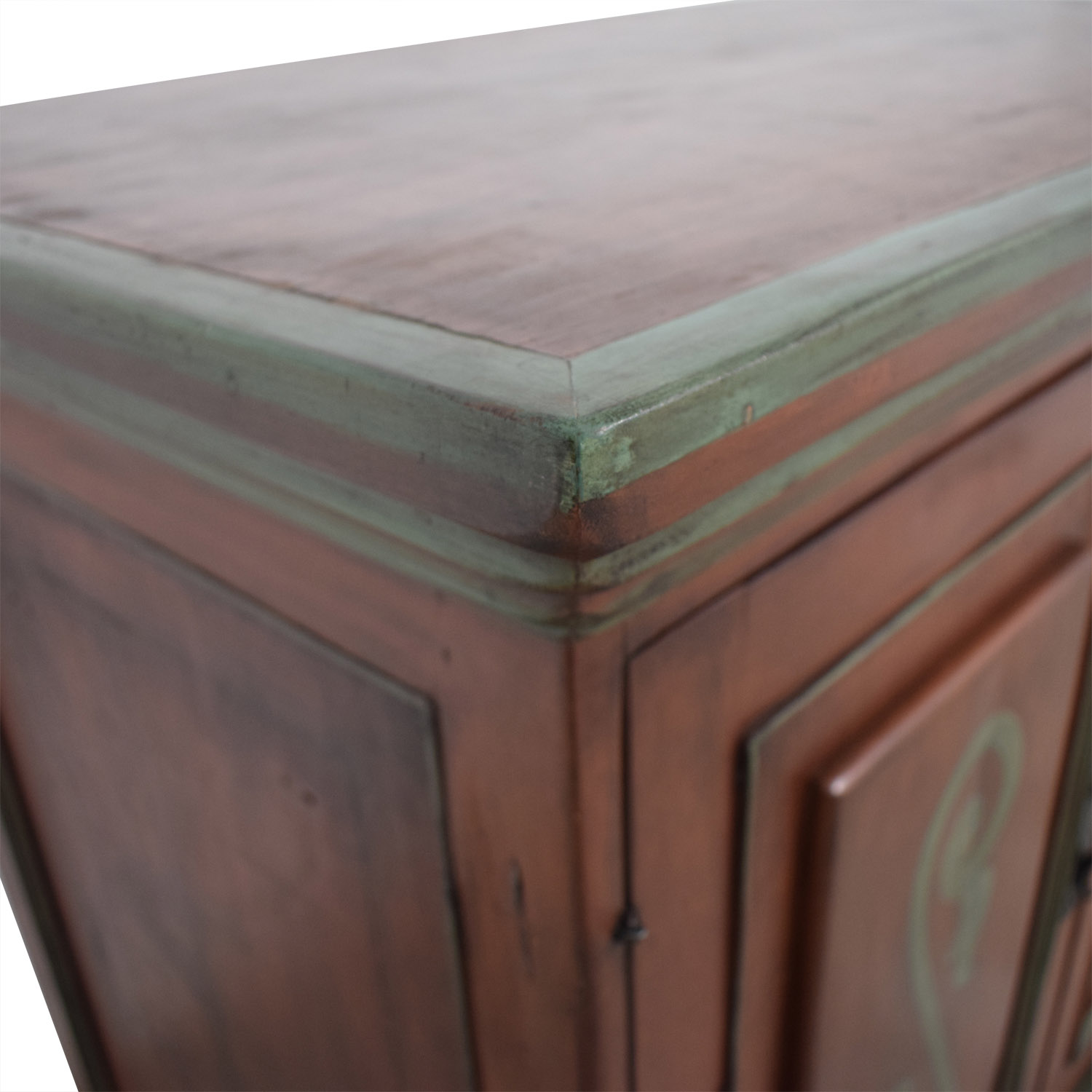 Two-Drawer Wood TV Armoire used
