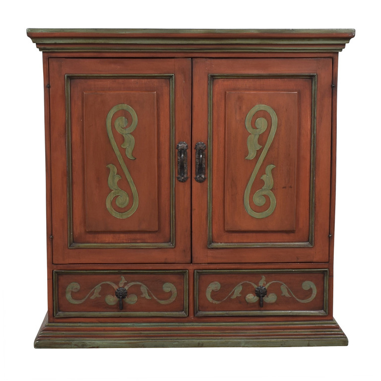 Two-Drawer Wood TV Armoire dimensions
