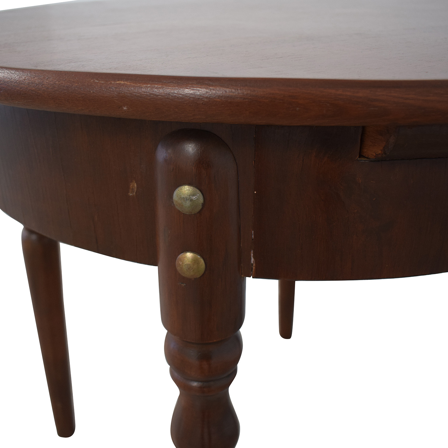 Vintage Round Extendable Table second hand