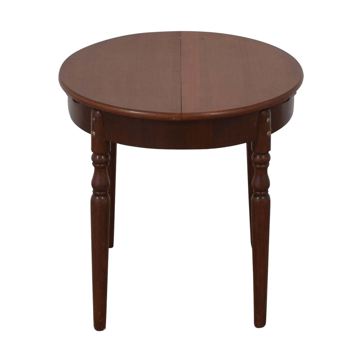 86% OFF   Vintage Round Extendable Table / Tables