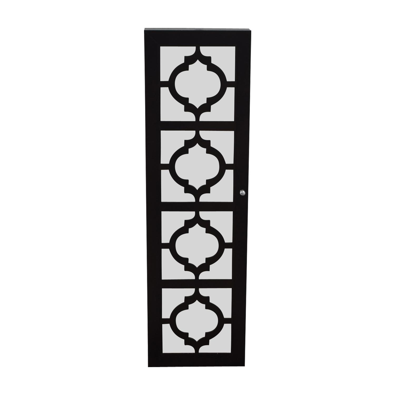 Black Mirrored Jewelry Rack Decor