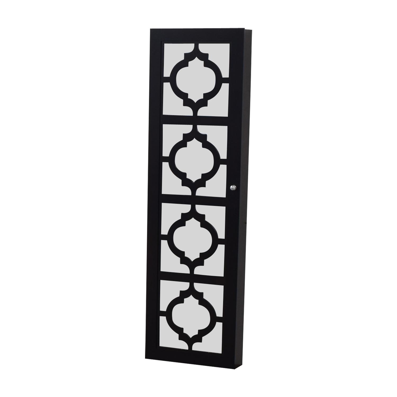 Black Mirrored Jewelry Rack nyc